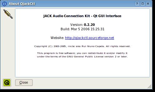 QjackCtl JACK Audio Connection Kit - Qt GUI Interface